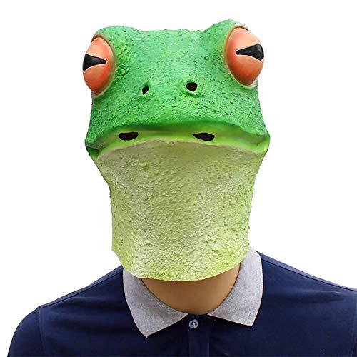 Promi Männlich Kostüm - JACKII Tierfrosch-Latex-Maske passend für Maskerade-Parteien, Kostüm-Parteien, Karneval, Weihnachten, Ostern, Halloween