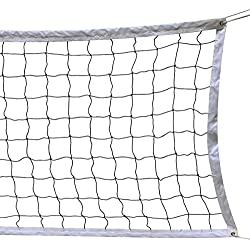 HOGAR AMO Filet de Volleyball/Badminton 9.5M x 1M Filet de Loisirs Réglable en Hauteur pour Plage Facile à Transporter Filet de Sport Intérieur Extérieur