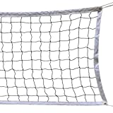 Volleyball Net, 9.5M * 1M With Steel Cable Rope Foldable Official Standard Size