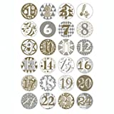 Rico Advent Calendar Badges Gold / Silver, Diameter 2.5 cm, 1 Set