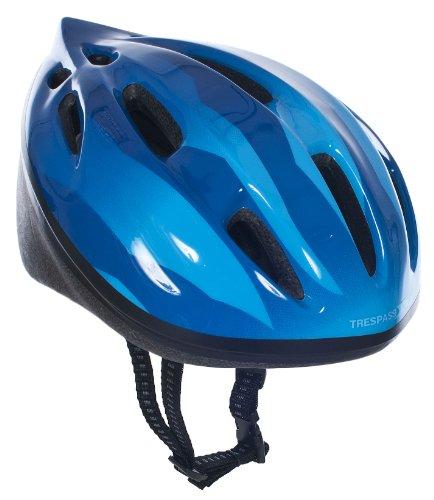 Trespass Cranky, Dark Blue, 44/48, Fahrradhelm für Kinder / Unisex / Mädchen und Jungen, 44-48cm Kopfumfang, Blau