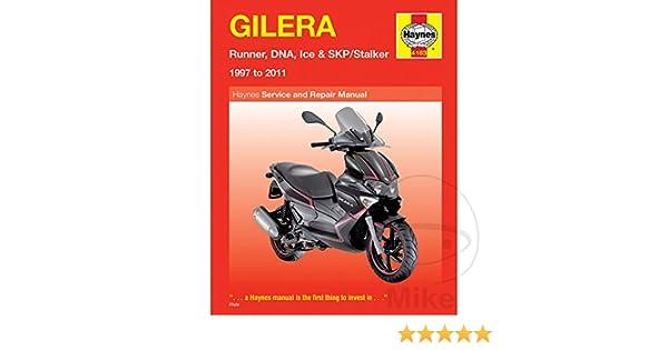 haynes manual 4163 gilera runner dna stalker ice 97 11 amazon co rh amazon co uk gilera stalker manual download gilera stalker repair manual