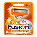 Gillette Fusion Power 4x - hojillas de afeitar (Men, Gillette, ProGlide Power Fusion Power, 4 pieza(s))