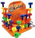 Skoolzy ★ Jeux Montessori 3 Ans ★ Jeux d'éveil 1er Age ★ 30 Chevilles pour Apprendre Les Couleurs, à Trier et à Compter ★ 30 Jours Garantie ou Remboursé