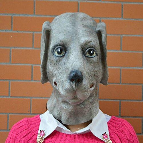HELEISH Halloween Party Requisiten knifflige realistische Hunde Caps Party Maske Motorradzubehör (Requisiten Anweisungen Halloween)