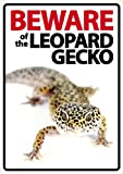 Magnet & Steel USA Inc. Beware of The Leopard Gecko Kunststoff Schild