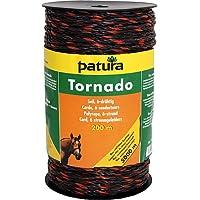 Patura Tornado Seil, 200 m Rolle, braun-orange 5 Niro 0,20mm, 1 Cu 0,30mm