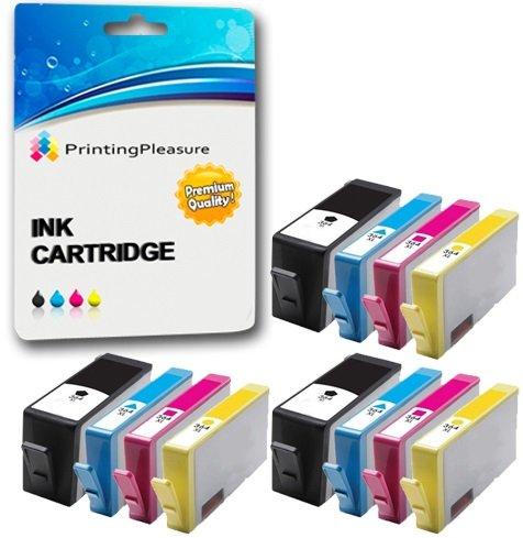 Hp Photosmart Photo Printing (Printing Pleasure 12 XL Druckerpatronen für HP Deskjet 3070A 3520 Officejet 4610 4620 Photosmart 5510 5514 5515 5520 6510 6520 B109a B109n B110a Photosmart Plus B209a B210a | kompatibel zu HP 364XL)