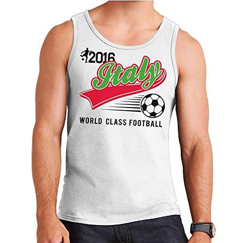 Euro 2016 Football Italy Italia Baseball White Men\'s Vest