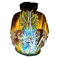 comechen Mens Hoodie Sweatshirt/Jumper Jacket Fleece Lined Realistic 3D Print Sweatshirt Unisex Casual PulloverDragon Ball 3D 1936 L