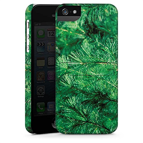 Apple iPhone X Silikon Hülle Case Schutzhülle Pinie Äste Natur Premium Case StandUp