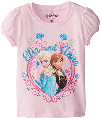Disney Frozen Elsa and Anna Kleinkind Rosa T-Shirt | 2T (Anna Frozen Shirt Kleinkind)