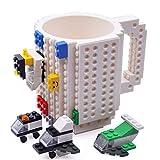 KYONNE Build on Brick Tasse, Becher zur Junge oder Männer, Weihnachten Geschenk Idee (Weiß)