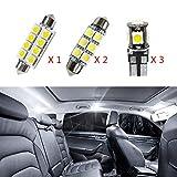Cobear 12V Blanc Super Brillant Conduit Voiture kit de Lampe de lumière intérieure pour Golf4 MK4 remplacer pour halogène ou Lampes DHI 6pcs