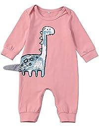 Ropa Bebe niña Talla 8,Bebé recién Nacido niños Dinosaurios Cartoon Cartoon Mameluco Mono Ropa Casual,Rosado,70 80 90 100