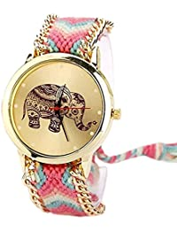 Shree Enterprise Watch With Elephant Dial | Golden Dial | Fabulous Look | For Girls & Women | Stylish Look | Girlish...