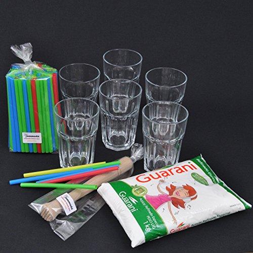 Ommada® Caipirinha-Set (Brauner Glas Zucker)
