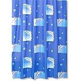 ROLLER Duschvorhang FLIPPER - blau - 180x200 cm