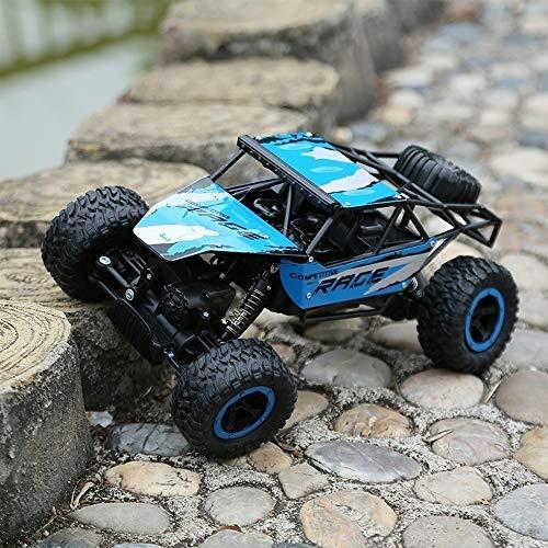 PETRLOY All Terrain Super große RC Rock Crawler Fernbedienung LKW 4WD wiederaufladbare Fahrzeuge Geländewagen mit starker Steigfähigkeit Crawler Rotation Stunt Drifting Vehicle (Wiederaufladbare Rock Crawler)