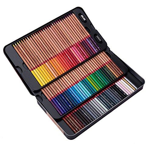 meeden 100matite colorate con custodia di latta per adulti Coloring Book, qualità premium