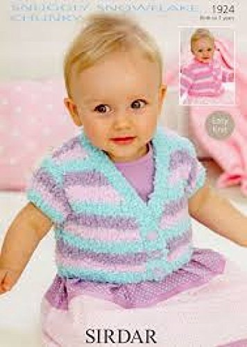 Sirdar Baby Strickjacken Muster 1924Chunky -