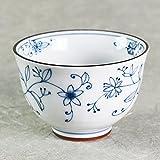 Teeschale Sen Karakusa, japanische Teeschale mit Rankenmuster