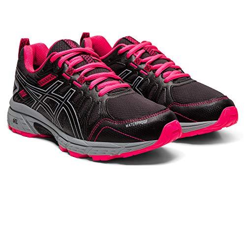 ASICS Unisex-Child Gel-Venture 7 GS Wp Trail Running Shoe, Black/Sheet Rock, 39.5 EU