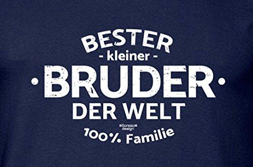 Geschenk-Set Bester kleiner Bruder der Welt Herren T-Shirt : Geschenkidee für Männer auch Übergrößen : Geschenk für Ihn Geburtstagsgeschenk Weihnachtsgeschenk Farbe: navy-blau Navy-Blau