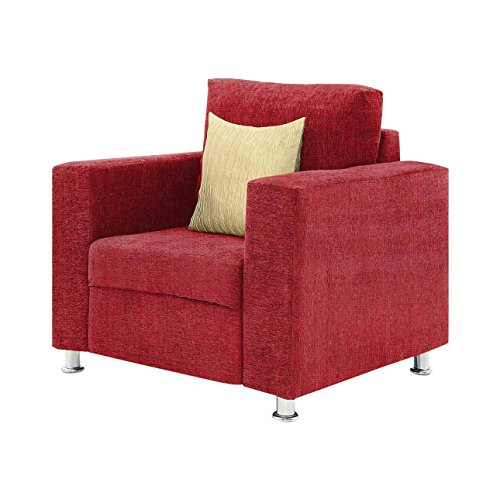 Comfort Couch Premium Valencia Single Seater Sofa (Red)