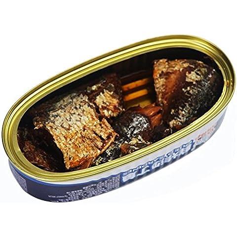 sardine in scatola 12 lattine totale peso netto 1440 grammi (barattoli 120gX12), frutti di mare dal Mar Cinese Meridionale Nanhai