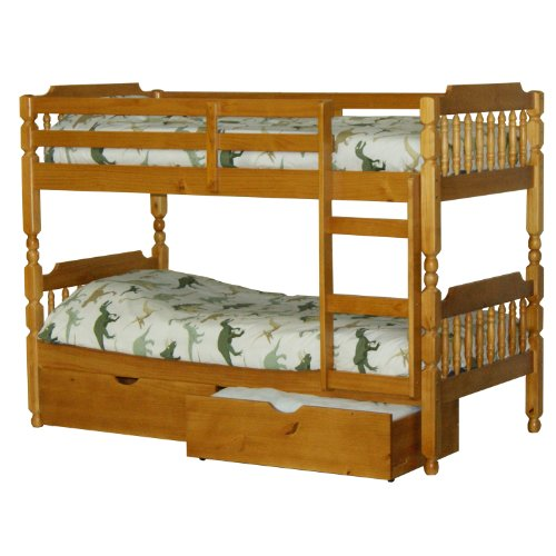 Spindle Single Size Bunk Bed No Underbed 3ft