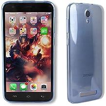 Guran® Silicona Funda Carcasa para DOOGEE Valencia2 Y100 Plus (5,5 pulgadas) Smartphone TPU Bumper Shock case Cover-azul