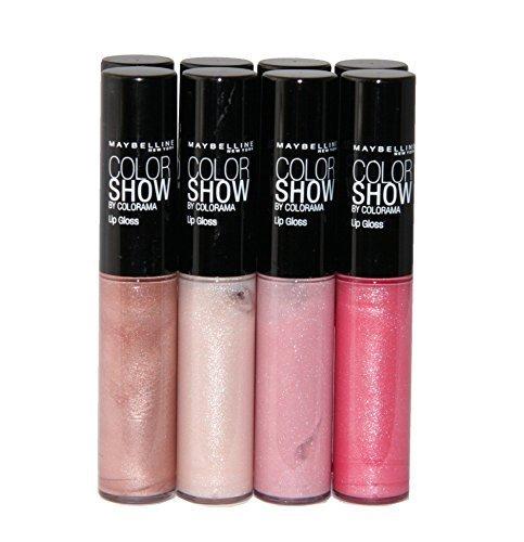 8 x Maybelline Color Show Brillant À Lèvres 4 teintes Vente En Gros Cosmétique