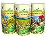 N.L.Chrestensen SET 7 Dosen-Blumeninsel im Garten Blumensaatgut, Mehrfarbig