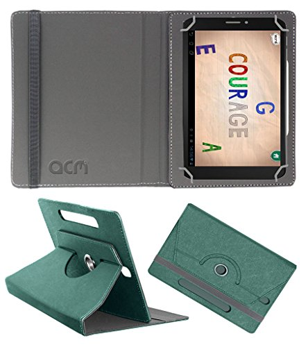 Acm Designer Rotating Leather Flip Case for Pinig Kids Smart 6-8 Cover Stand Turquoise  available at amazon for Rs.169