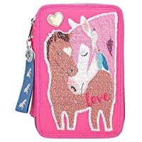 Miss Melody Triple Filled Pencil Case Pink