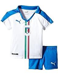 PUMA camiseta deportiva infantil FIGC Italia Minikit Away Blanco White/Team Power Blue Talla:116