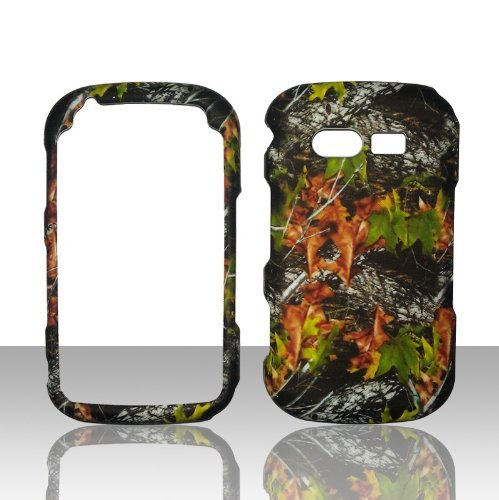 Camo Leaves Pantech TXT8035 Caper Verizon Case Cover Hard Phone Case Snap-on Cover Rubberized Touch Faceplates