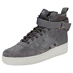 Nike Men's Sf Air Force 1 Mid Gymnastics Shoes, Grey (Gunsmokegunsmokewolf Greysummit White 007), 9 Uk
