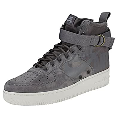 a560261c6be7a Nike Men s Sf Air Force 1 Mid Shoe Gymnastics Gunsmoke Wolf Grey Summit  White