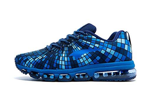 Onemix Herren Air Sneakers Bequeme Freizeit Schn眉rer Profilsohle Sportschuhe Turnschuhe Blau
