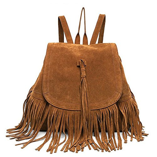 Damen Backpack Purse Faux Wildleder Ladies Rucksackhandtasche Satchel