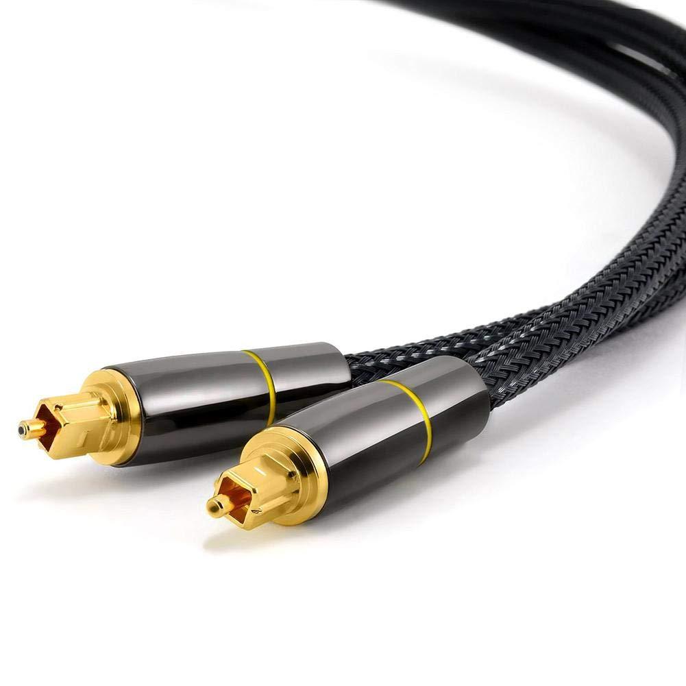 Cable de Fibra /Óptica de Audio Digital Mini-TOSLINK a TOSLINK de 2,2 mm de 3 Metros Electr/ónica Rey/®
