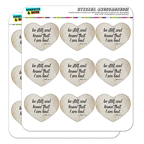 at I am God Psalm inspirierender christlicher Herz-Planer Kalender Scrapbook Craft Sticker 18 2