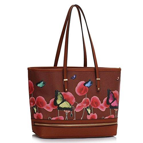 Trendstar Frau Entwerfer Handtaschen Damen Berühmtheit Stil Neu Imitat Leder Für Leinentrage Taschen Braun 1