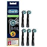 Oral-B CrossAction Black Edition Aufsteckbürsten, Borsten im 16-Grad Winkel für eine überlegene Reinigung, 5 Stück, schwarz
