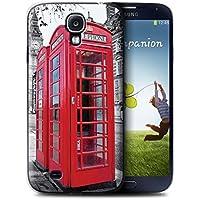 Stuff4 Hülle / Hülle für Samsung Galaxy S4/SIV / Red Phone Box Muster / London England Kollektion