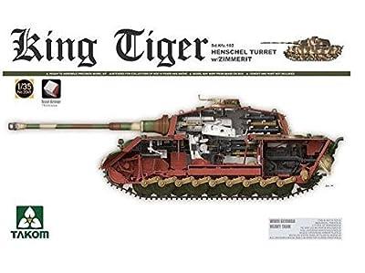 Takom TAK-2045 - Modellbausatz WWII German Heavy Tank Sonderkraftfahrzeug 182 King Tiger Henschel Turret w/Zimmerit von Takom (TAKO8)