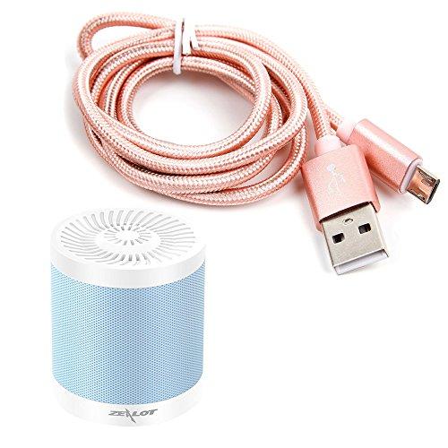 Cable USB a Micro USB en color rosa. Para carga y transferencia de datos para Altavoz Portátil WanEway Q2 / Whitelabel Mini Tough / Wiko WiSHAKE / XTRA e-FUSION 102-MB-BL / Yokkao Multifunctional Bluetooth / ZEALOT S5 mini / ZENBRE F3 - DURAGADGET