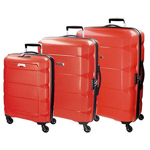 Set de tres Trolleys 55-65-75cm Modelo Geometric - Rojo